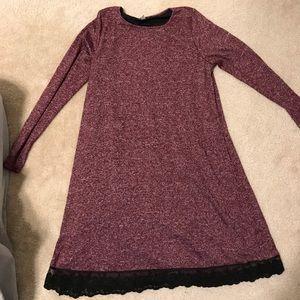 Pink blush Maternity sweater dress